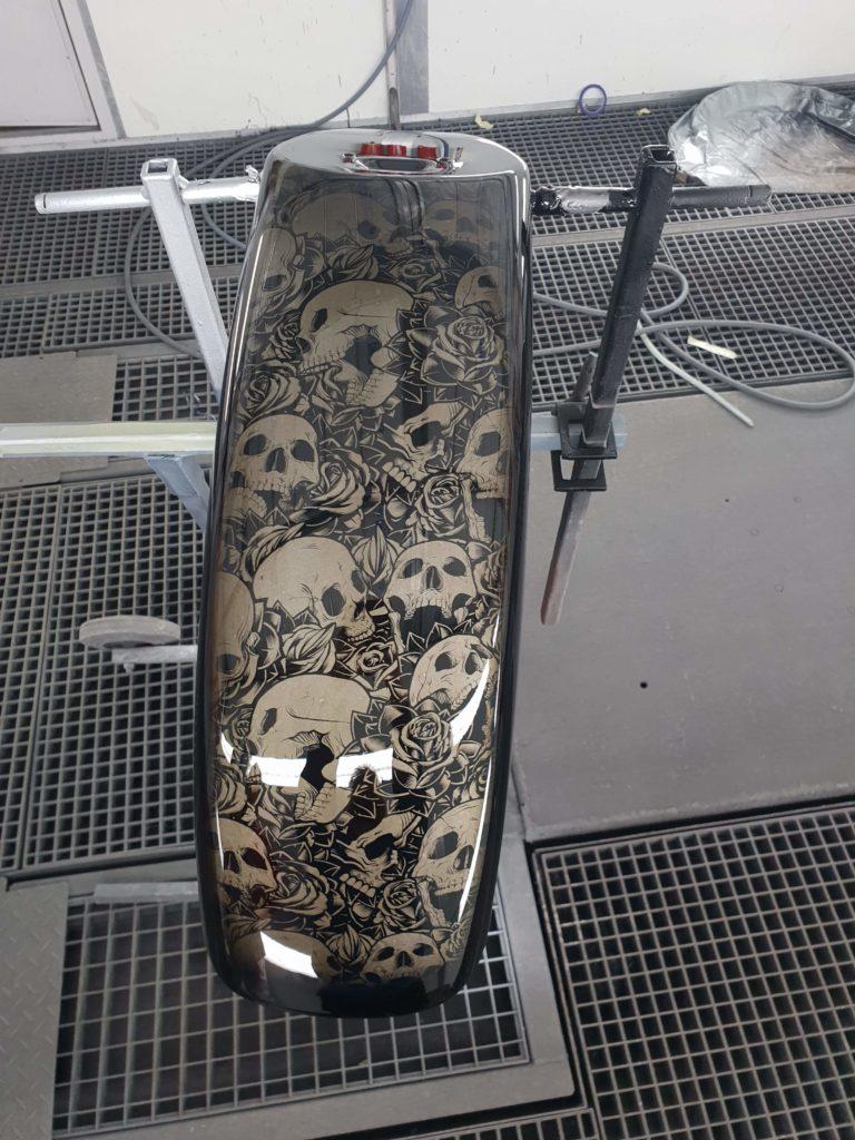 Hydro dippet motorsykkelskjerm
